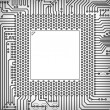 Circuit board square frame — Stock Photo