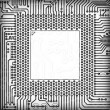 Circuit board square frame — Stock Photo #2372501