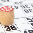 Stock Photo: Wooden barrel lotto with number thirteen