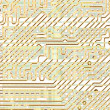 Abstract circuit board golden texture — Stock Photo