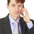Man in business suit talking on phone — Stock Photo #2374664