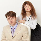 Young business - man and woman — Stock Photo