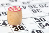 Wooden barrel lotto with number thirteen — Stock Photo