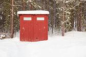 общественный туалет в открытом воздухе — Стоковое фото