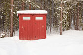 Banheiro público no ar livre — Foto Stock