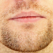 Beard and lips — Stock Photo