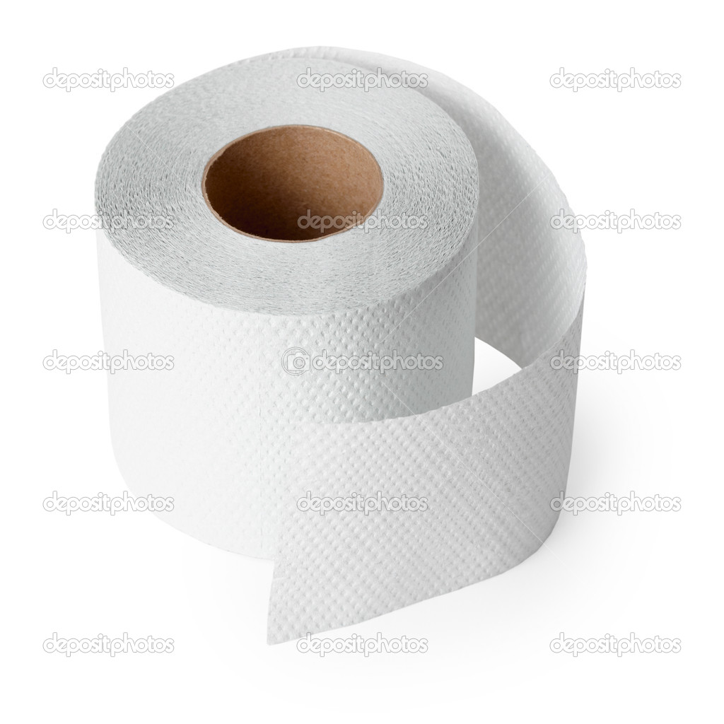 Conventional toilet paper roll on a white background — Stock Photo #2373397