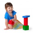 Girl playing with toys — Stock Photo #2392172