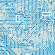 Circuit board light blue hi-tech texture — Stock Photo