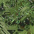 Circuit board dark green hi-tech texture - Stock Photo