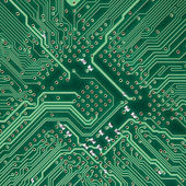 Placa de circuito eletrônico textura quadrados — Fotografia Stock