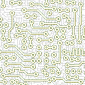 Abstract graphical circuit board pattern — Stock Photo