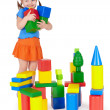 Happy smiling children playing with toy — Stock Photo