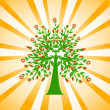 Royalty-Free Stock Vektorfiler: Flowered tree