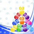 Royalty-Free Stock ベクターイメージ: Beautiful Christmas tree