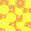 Stock Vector: Lemon and orange background