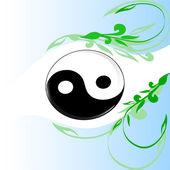 Yin and Yang symbol — Stock Vector