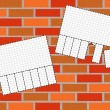 Illustration of brickwall background — Stock Photo