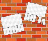 Illustration of brickwall background — Stock Photo