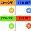 Royalty-Free Stock Imagem Vetorial: Sale tag stickers with discount