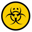 Stock Photo: Bio hazard symbol with sad face