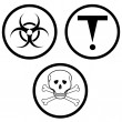 Class D of hazardous materials. — Stock Photo
