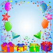 Illustration of a  Birthday background - Stock Photo