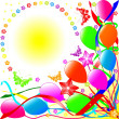 Stock Photo: Illustration of Birthday background
