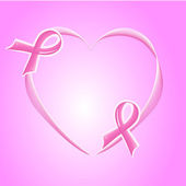 Pink Support Ribbon background — Stock Photo
