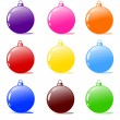 Christmas tree bulbs — Stock Photo