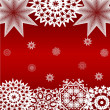 Red Christmas background — Stockfoto