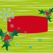 Green Christmas background — 图库照片