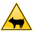 Stock Photo: Swine flu sign
