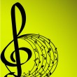 Royalty-Free Stock Imagem Vetorial: MUSIC THEME