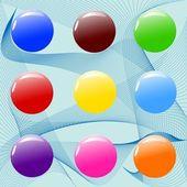 Assorted color balls — Stock Vector