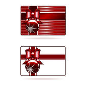 Decorated gift cards — Stock Vector