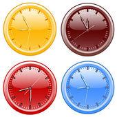 Office clocks — Stock Photo