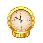 Gold clock — Stockfoto