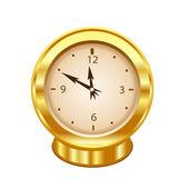 Gold clock — Stock Photo
