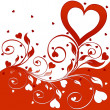 Flower background with hearts - Foto Stock