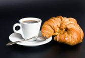 Breakfast from coffee — Stock Photo