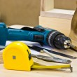 Stock Photo: Joiner's tools lying on workbench