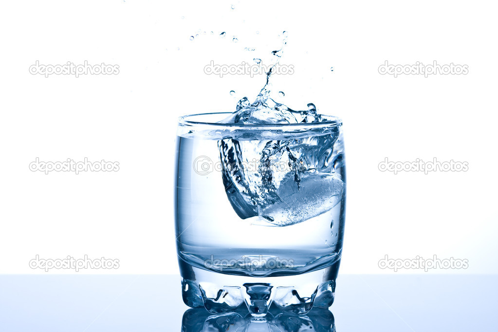 Ice splashing in a cool glass of water stock photo 169 pumba1
