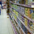 Stock Photo: The shelves with goods in a supermarket