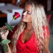 Royalty-Free Stock Photo: Beautiful  girl with red rose