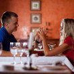 Romantic dating. — Stock Photo