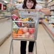 Royalty-Free Stock Photo: Young woman in the supermarket