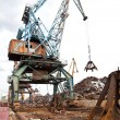 Stock Photo: Industrial grabber crane loads scrap