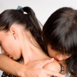 Two girls hot girl-friends — Stock Photo