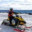 Competitions on snowmobile — Stock Photo #1084356